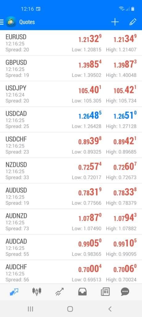 BlackBull Markets Mobile App Screenshot